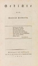 Hölderlin, Friedrich - Gedichte. 1826