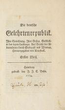 Friedrich Gottlieb Klopstock - Die deutsche Gelehrtenrepublik. 1774