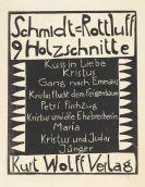 Schmidt-Rottluff, Karl - 9 Holzschnitte (Titel und 9 Bll. Graphiken in 1 Mappe)