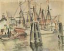 Eduard Bargheer - Hafen an der Alten Liebe in Cuxhaven
