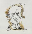 Horst Janssen - Porträtzeichnung Edgar Allan Poe