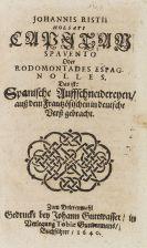 Johann Rist - Capitan Spavento oder Rodomontades espagnolles