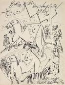 Hermann Max Pechstein - Eigenhändiger Brief mit Orig.-Zeichnung vom 29. Nov. 1920