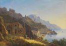 Carl Morgenstern - Blick auf das Kapuzinerkloster bei Amalfi