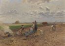 Hugo Mühlig - Rast bei der Kartoffelernte