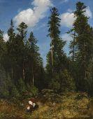 Hans Thoma - Schwarzwaldtannen (Beerenpflückerinnen)