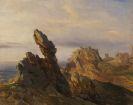 Théodore Jean Antoine Gudin - Felsenküste (Nordfrankreich?)