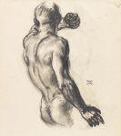 Franz von Stuck - Männlicher Rückenakt (Studie zu