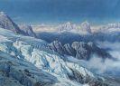 Rudolf Reschreiter - Langkofelgruppe vom Marmolata-Gletscher