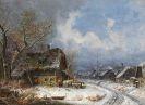 Heinrich Bürkel - Winterliches Dorf