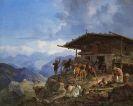 Heinrich Bürkel - Ankunft auf der Alm