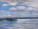 Alexander Koester - See mit Wetterwolken