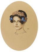 Stuck, Franz von - Bildnis der Tochter Mary als Frühlingskönigin
