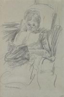 Max Liebermann - Lesende - Die Frau des Künstlers (Martha Liebermann)