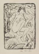 Otto Mueller - Sitzende, von Blattwerk umgeben (helle Fassung)