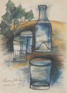 Maurice Utrillo - Le vin d'Utrillo (La bouteille et les verres)