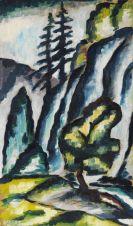 Dexel, Walter - Felsen und Bäume