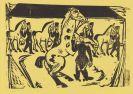 Ernst Ludwig Kirchner - Kasernenreithof, Halle (Artilleristen beim Pferdebewegen)