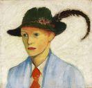 August Macke - Junge mit Federhut