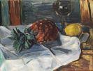 Hans Purrmann - Stillleben mit Ananas, Zitrone und Weinglas