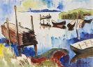 Karl Schmidt-Rottluff - Boote am Lebasee