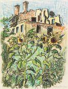 Hermann Max Pechstein - Sonnenblumen im Garten