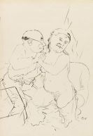 George Grosz - Bordellszene (The handjob)