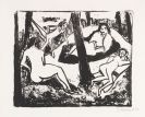Erich Heckel - Szene im Wald (Akte in Waldlichtung)