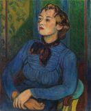 Hans Purrmann - Dame mit blauem Pullover (Eva-Maria Henschel)