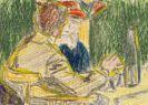 Ernst Ludwig Kirchner - Kirchner und Dodo im Café (Dresden)