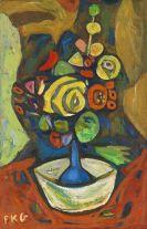 Friedrich Karl Gotsch - Blumenvase in weißer Schale I