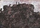 Jean Dubuffet - Paysage rocheux sombre