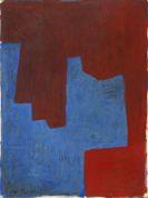 Serge Poliakoff - Composition deux rouges et bleu