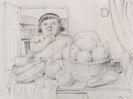 Fernando Botero - Nature Morte avec Jeune Fille