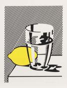 Roy Lichtenstein - Untitled (Still Life with Lemon and Glass)