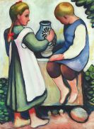 Macke, August - Kinder am Brunnen II