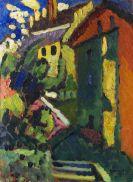 Wassily Kandinsky - Treppe zum Schloss (Murnau)