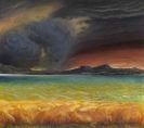 Otto Dix - Bodenseelandschaft bei stürmischem Wetter (Gewitter am Bodensee)