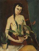 Karl Hofer - Frau mit Pflanzen