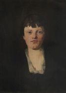 Wilhelm Trübner - Mädchen mit viereckigem Halsausschnitt