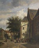 Adrianus Eversen - Achter de Westerkerk in Enkhuizen