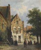 Adrianus Eversen - Zonnig straatje