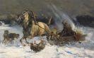 Alfred von Wierusz-Kowalski - Angriff der Wölfe