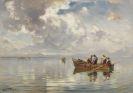 Joseph Wopfner - Fischerboote am Chiemsee