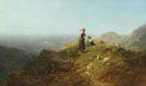 Carl Spitzweg - Blick ins Tal (Zwei Mädchen auf einer Alpe)