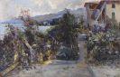 Leo von Littrow - Küstenlandschaft bei Abbazia