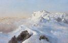Edward Theodore Compton - Über dem Nebelmeer (Monte Rosa vom Rimpfischhorn)
