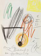 Joan Miró - Lithographe II. Vorblatt mit Orig.-Zeichnung
