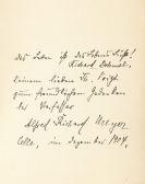 Alfred Richard Meyer - Colombine, VA u. Widmungsexemplar