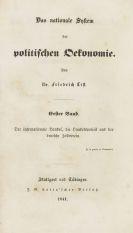List, Friedrich - Das nationale System der politischen Oekonomie
